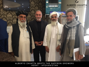 afghanistan-national-saffron-growers Alberto Zavatta with some representatives of the Union